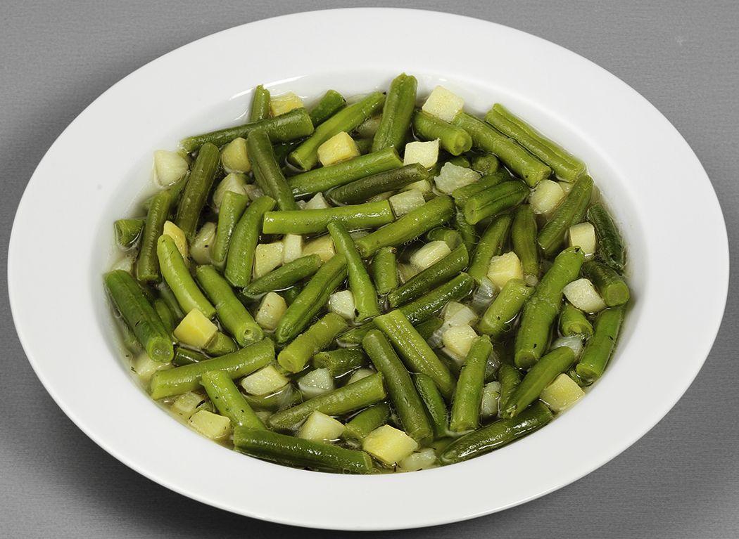 Vegetarischer Grüne-Bohnen-Eintopf
