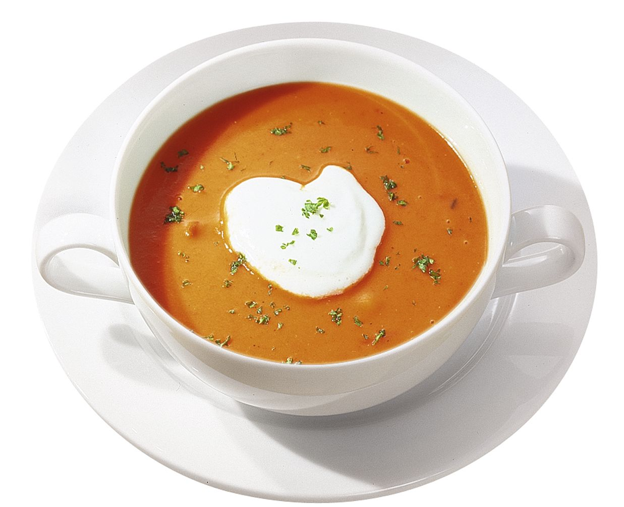Fruchtige Tomatencremesuppe