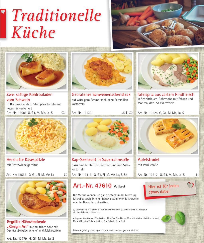 "Menü-Sortiment ""Traditionelle Küche"""